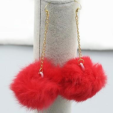 Viseće naušnice Moda Europska Platinum Plated Pozlaćeni Legura Obala Crn Fuksija Crvena Pink Jewelry Za 1set