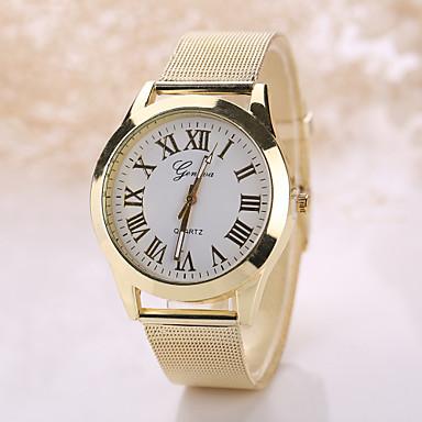 Geneva Hombre / Mujer Reloj de Pulsera Reloj Casual Acero Inoxidable Banda Bohemio / Moda Plata / Dorado