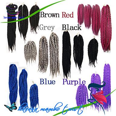 Tranças torção Havana fibra sintética # 27 # 30 Azul Cinzento Erro Extensões de cabelo 40cm 45cm 51cm 56cm 24