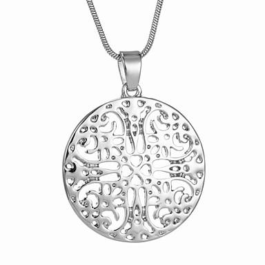 Damen Hohl Anhängerketten - Blume Grabado Modische Halsketten Schmuck Für Hochzeit, Party, Alltag
