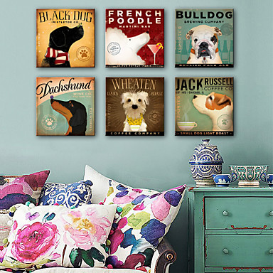 Životinje Jedna ploha Kvadrat Print Zid dekor Početna Dekoracija