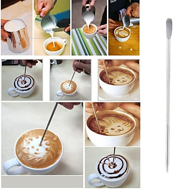 kávé latte art tű rozsdamentes acél horog divatos öltés horog art toll eszközt kapucsínót dekorációs szerszám