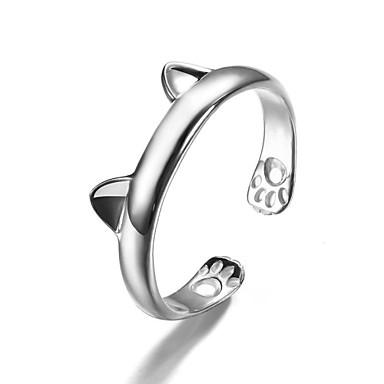Naisten mansetti Ring Muoti söpö tyyli pukukorut Sterling-hopea Animal Shape Korut Käyttötarkoitus Party Päivittäin Kausaliteetti