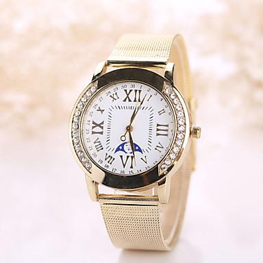 Mulheres Relógio Elegante Relógio de Moda Relógio de Pulso Relógio Casual Quartzo Relógio Casual imitação de diamante Aço Inoxidável Banda