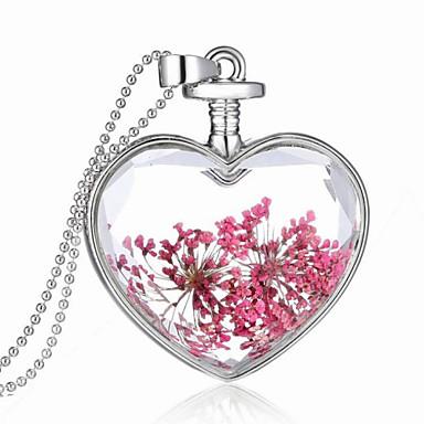 Kristal Kolye Uçları - Som Gümüş Kalp Kolyeler Uyumluluk Düğün, Parti, Teşekkür ederim