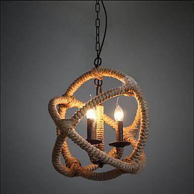 3-Light Pendant Light Ambient Light Metal 110-120V / 220-240V Bulb Not Included / E12 / E14