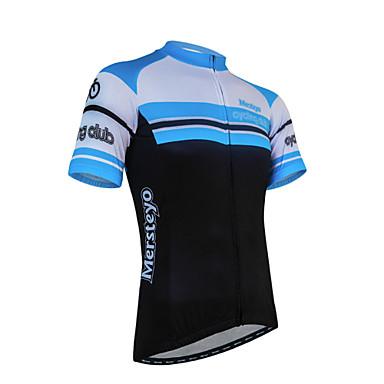 XINTOWN Muškarci Kratkih rukava Biciklistička majica s kratkim hlačama - Crna / plava Bicikl Kratke hlače Biciklistička majica Kompleti
