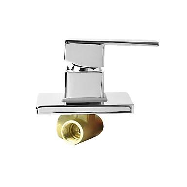 Wasserhahn Zubehör - Gehobene Qualität - Moderne Messing Heißes und kaltes Mischwasserventil - Fertig - Chrom
