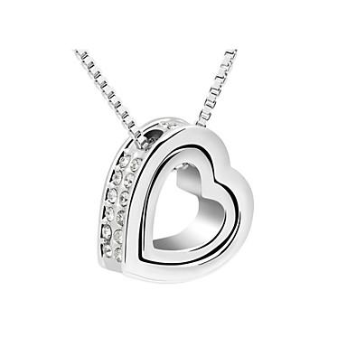 Itävalta kristalli kaksinkertainen sydän kaulakoru, kauniita koruja
