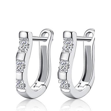 Női Kristály Beszúrós fülbevalók - Ezüst, Strassz Divat Ezüst Kompatibilitás Esküvő / Parti / Napi