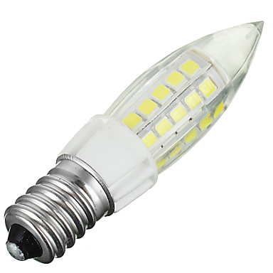 E14 Lâmpadas Espiga B 44 leds SMD 2835 Decorativa Branco Frio 300-400lm 6000-6500K AC 220-240V