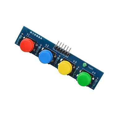 4-Tasten-Tastenmodul Sensor externe Tastatur-Modul für Arduino + Himbeere pi- blau