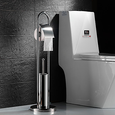 Suporte para Papel Higiênico Suporte para Escova de Banheiro / Aço Inoxidável Aço Inoxidável /Contemporâneo