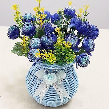 Umjetna Cvijeće 1 Podružnica Simple Style Roses Cvjeće za stol
