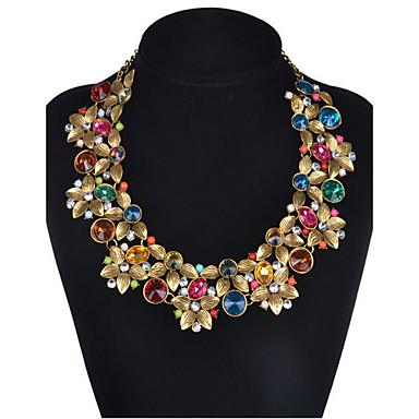 Damen Gestalten Retro Schmuck mit Aussage Viktorianisch Modisch Europäisch Halsketten Statement Ketten Synthetische Edelsteine