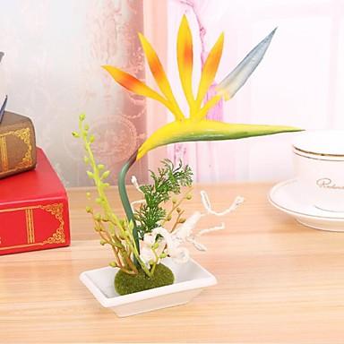 פוליאסטר Strelitzia פרחים מלאכותיים