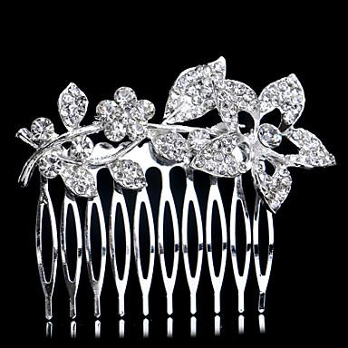 rhinestone hair combs headpiece hääjuhlat elegantti feminiininen tyyli