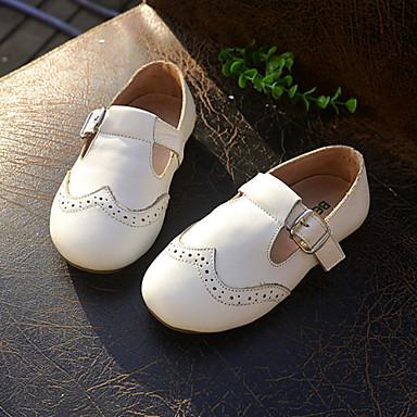 Para Meninos Para Meninas Rasos Conforto Couro Primavera Outono Atlético Casual Conforto Velcro Preto Branco Laranja Rasteiro