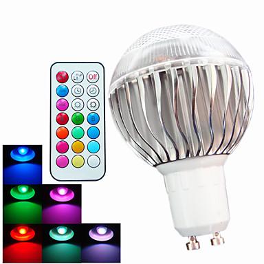 GU10 LED-pallolamput A60(A19) 3 ledit Teho-LED Himmennettävissä Kauko-ohjattava Koristeltu RGB 400lm RGBK AC 100-240V