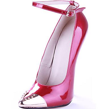 בגדי ריקוד נשים נעליים דמוי עור אביב / סתיו עקב סטילטו אדום / מסיבה וערב / מסיבה וערב