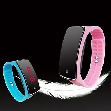 Homens Relógio de Moda Relógio Esportivo Digital Tela de toque LED Silicone Banda Cores Múltiplas