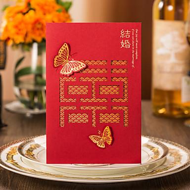 Gate-Fold Vjenčanje Pozivnice Pozivnice za zaruke Pozivnice Moderna Tvrda kartica papira