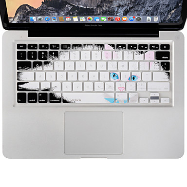 xskn tartós ultravékony billentyűzet fedél szilikon bőr lusta macska MacBook Air / Pro 13 15 17 colos, nekünk elrendezés