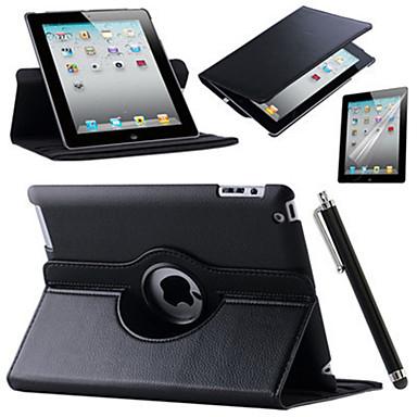Capinha Para Apple Com Suporte / Rotação 360° / Origami Capa Proteção Completa Sólido Rígida PU Leather para iPad Air / iPad 4/3/2 / iPad Mini 3/2/1 / iPad (2017)