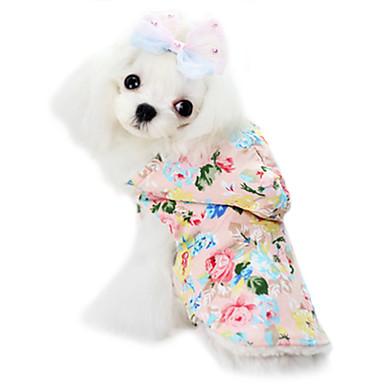 Cachorro Macacão Roupas para Cães Fashion Laço Floral / Botânico Azul Rosa claro Ocasiões Especiais Para animais de estimação