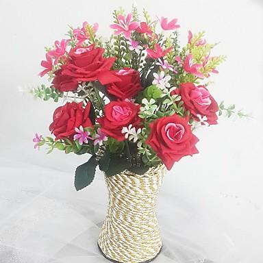 Flores artificiais 1 Ramo Estilo Europeu Orquideas / Rosas Flor de Mesa