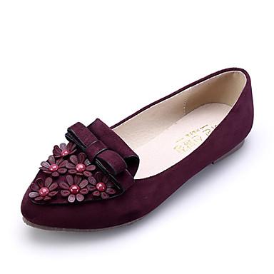 Tasapohjakengät - Tasapohja - Naisten kengät - Mokkanahka - Musta / Pinkki / Burgundy / Laivastosininen - Rento / Puku -Comfort /