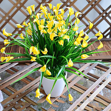 Artificial Flowers 1 Branch Simple Style Calla Lily Tabletop Flower