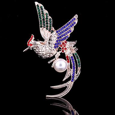 נשי הקריסטל של סיכת חית פניקס Fung-הוואנג עבור צעיף קישוט מסיבת חתונה, תכשיטי יוקרה