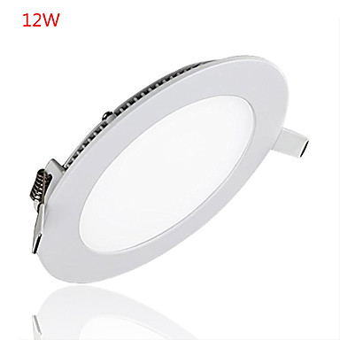 Jiawen LED Panel Light Round Ultra Tynt Downlight 12W Panel Led Light for hjemmekontor belysning ac85 -265v