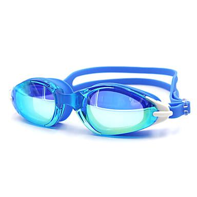 משקפי שחייה יוניסקס נגד ערפל סיליקה ג'ל PC לבן / שחור / כחול / כחול כהה כחול כהה / סגול / לבן / אדום / שחור / כחול