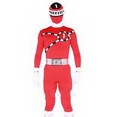 Garnitury Zentai Morphsuit Superbohaterowie Zentai Kostiumy Cosplay Red Green Yellow NadrukTrykot opinający ciało/Śpiochy dla dorosłych