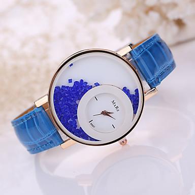 Damen Modeuhr Facettierte Kristalluhren Quartz Armbanduhren für den Alltag Leder Band Schwarz Weiß Blau Rot Braun Rosa