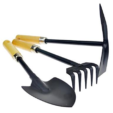 Gartenarbeit Camping drei Stück Schaufel Rechen-Tool für den Anbau von Blumen oder Gemüse