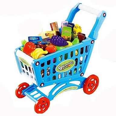 Spielzeug-Autos Tue so als ob du spielst Spielzeug-Einkaufswägen Spielzeuge Gemüse Frucht Einkaufswagen Simulation Kunststoff Kinder