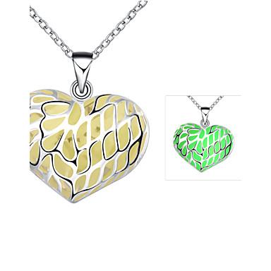Modische Halsketten Anhängerketten Schmuck Hochzeit / Party / Alltag Aleación / versilbert Silber / Blau / Grün / Lila 1 Stück Geschenk