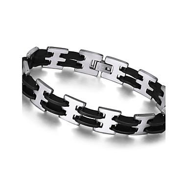 בגדי ריקוד גברים שרשרת וצמידים צמיד פלדת על חלד עיצוב מיוחד אופנתי תכשיטים שחור תכשיטים 1pc