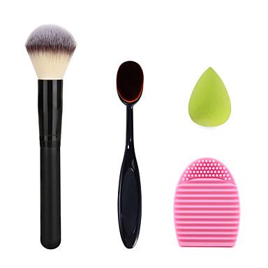 maquiagem escova de dentes creme de ovo em pó pincel de blush escova de limpeza lavagem e esponja de maquiagem tamanho pequeno verde