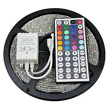abordables Bandes Lumineuses LED-zdm 5m 300 x 5050 led bandes légères flexibles et ir 44key télécommande filable auto-adhésives changeant de couleur