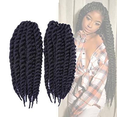 Geflochtene Haarzöpfe Box Zöpfe Senegal Havanna Synthetik 1pc / pack Twist Braids Haarzöpfe