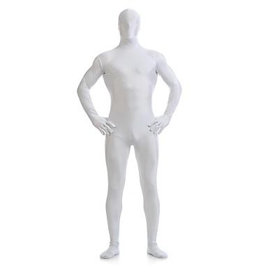 Buy Zentai Suits Ninja Cosplay Costumes White Solid Leotard/Onesie Spandex Lycra Unisex Halloween