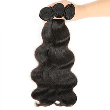 Hiukset kutoo Brasilialainen Laineita 6 kuukautta 3 osainen hiukset kutoo