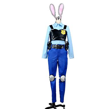 Inspiriert von Cosplay Judy Anime Cosplay Kostüme Cosplay Kostüme Patchwork Bluse / Top / Kopfbedeckung Für Damen
