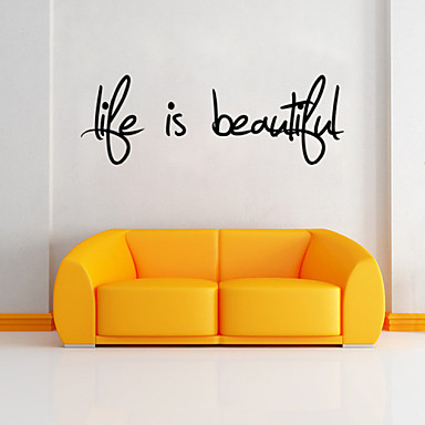 Words & Quotes Wall Tarrat Lentokone-seinätarrat Koriste-seinätarrat, PVC Kodinsisustus Seinätarra Seinä