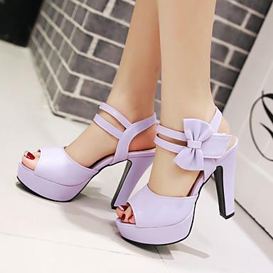 Noeud Eté Bottier Printemps 04923463 Talon Chaussures Similicuir Automne Violet Beige Femme Rose Hw10qBn