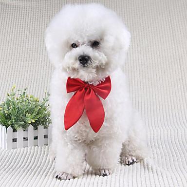 Hund Slips/Sløyfer Hundeklær Sløyfeknute Svart Rød Vin Terylene Kostume For kjæledyr Herre Dame Søtt Bryllup